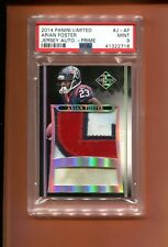 2014 PANINI LIMITED ARIAN FOSTER GAME USED PATCH 1/5 MADE PSA 9 POP 1 MUST SEE