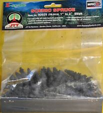 "1:220 Z SCALE  55 DETAILED SPRUCE TREES  EXCELLENT QUALITY BY JTT - 1""-2"" HIGH"