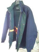 Vintage Youth Ski Jacket Toma  Size Large 14/16 Blue Hooded Coat EUC Winter