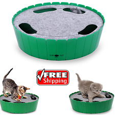 Fun Battery Operated Interactive Cat Toy Hide and Seek Kitten Pet Teasing Toy