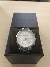 Michael Kors Watch Stainless Steel With Mother Of Pearl Setting