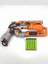 Nerf Zombie Strike Hammershot Blaster Gun w/ Ammo - Tested