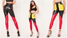 Slim, Skinny, Treggings Faux Leather Regular Size Trousers for Women