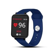 Q10 watch, blue and black straps, Android or Apple compatible, heartrate, BP