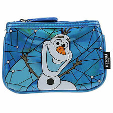 Loungefly Disney Frozen Olaf Blue Stained Glass Coin Bag NEW Toys Purse Wallet