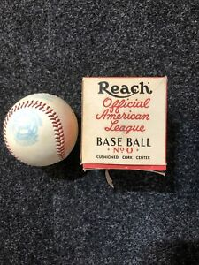 VTG NOS AJ REACH 1948-1950 UNUSED AMERICAN LEAGUE BASEBALL W.ORG BOX-WM HARRIDGE
