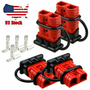 Quick Battery Connector Winch Trailer Connect/Disconnect Wire Harness Plug-4PCS