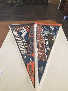 DENVER BRONCOS 1997 AFC Champions Felt Pennet 12 x 30 Inchs NFL Very COOL