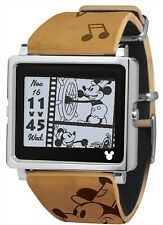 Watches Smart canvas Vintage Series Brown Watch DY1011 Disney Mickey Mouse NEW