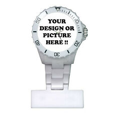 Personalized Custom Your Logo Design Photo Text for Nurses Watch Free Shipping