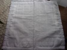 6 mouchoirs homme 100% coton tissée blanc ourlet jour
