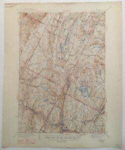 USGS Topographic Map 1938 Data HARDWICK QUADRANGLE, VERMONT
