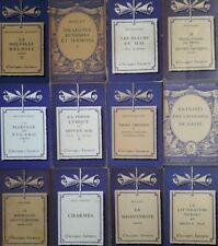12 Vintage Classic Larousse French Antique Books- Mauliere; Baudelaire; Bossuet