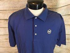 Peter Millar Polo Shirt Men's L Eagle Logo Blue - R4