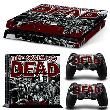 PS4 Playstation 4 Console Skin Decal Sticker The Walking Dead + 2 Controller Set