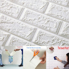 3d Embossed Brick White PE Foam Panels Wall Sticker Self Adhesive DIY Home Decor