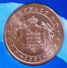 5 Cent Monaco 2001 aus Euro-Starterkit, kleine schwarze Punkte auf Wertseite [v]