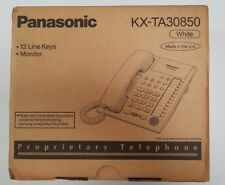 PANASONIC KX-TA30850 12 line key phone WHITE