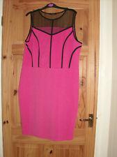 new look inspire ladies coral and black dress uk sz 20i