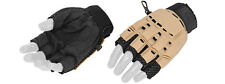 Airsoft Paintball Tactical Armored Half Finger Gloves Tan Large 224L