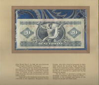 Most Treasured Banknotes Hungary 20 Forint 1975 UNC P 169f Serie C865