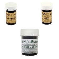 Sugarflair Paste Edible Food Colouring - Dusky Pink, Khaki & Foliage Green