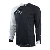 ONE INDUSTRIES VAPOR SOLID BLACK / GREY MOTOCROSS MX MTB BIKE CYCLE JERSEY