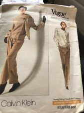 Vogue #2411 CALVIN KLEIN Jacket Pants 80's Annie Lennox Look Pattern Sz 8-12 UC