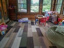 "Mix and Match Plank Carpet Tiles (Earth Family) 20 Tiles 54 Sqft 39.4"" x 9.75"""