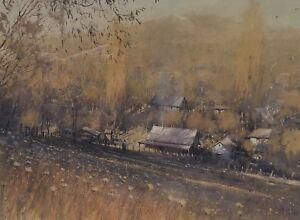 """Original Watercolour Painting by Joseph Zbukvic (EU/Aust 1952-) """"End of Summer"""""""