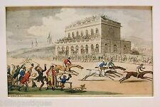 ENGRAVING DR.SYNTAX  ROWLANDSON  DR.SYNTAX VISITS YORK RACES  ACKERMANS 1813
