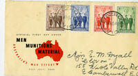 Australia 1940 War Effort Set Stamps # 184-187 FDC Fitzroy Victoria Cancels