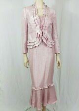 Frank Usher Pink Mother Of The Bride Dress & Jacket Size UK 10 Wedding
