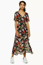 New Arrival TopShop Floral V Neck Angel Sleeve Dress Available Sizes 6,10,12