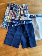 3 Ralph Lauren Boys Shorts Paid White Navy Size 5
