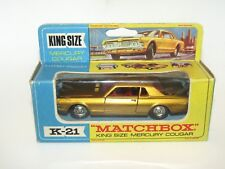 Matchbox Lesney Kingsize K-21 Mercury Cougar Gold VNMIB