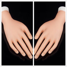 Practice Adjustable Fake Left Hand Model for Nail Art Training and Display GO