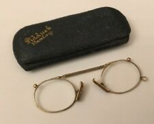 Antique HM Chester 9ct 9k Gold Authentic Pince-Nez Spectacles Nose Pinch Glasses