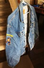 Crash Bandicoot Holy Grail Denim Jacket Promo Rare Vintage Jean Playstation 1998