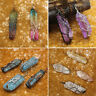 Natural Tree of Life Wire Wrap Rainbow Crystal Quartz Pendant Necklace Healing
