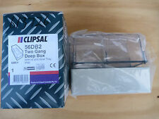 CLIPSAL	56DB2	TWO GANG DEEP BOX WITH LID AND GEAR TRAY.
