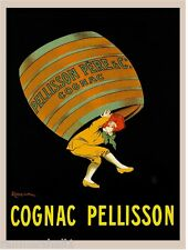 1900's French Cognac Pellisson Food & Wine Advertisement Art Poster Print