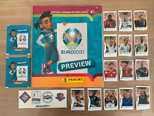 PANINI EURO 2020 PREVIEW VERSION SUISSE + EXTRA STICKERS C1-C14 + 2 PAQUETS