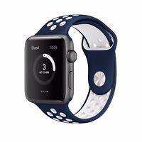 Silicona Deporte Reemplaza Banda Sport Band para Apple Watch 38mm 42mm Strap