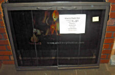 "Stoll Glass Fireplace Door Copper Vein Bi-Fold Doors, Hanging Mesh 33"" x 27"""