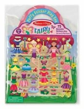 Melissa and Doug Reusable Puffy Sticker Play Set Fairy Craft Art