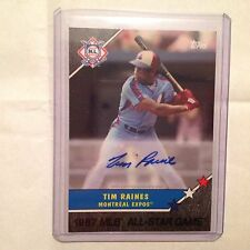 TIM RAINES EXPOS HOF Auto 5/5 made Black 2017 TOPPS ON-DEMAND All Star Game