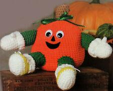 """Crochet Pattern • Pumpkin Doll • Novelty Halloween Decor • Cute Soft Toy • 6½"""""""