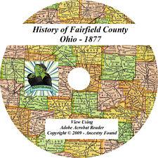 1877 History & Genealogy of FAIRFIELD County Ohio OH