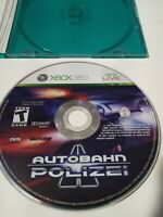 Autobahn Polizei Microsoft Xbox 360 Racing Video Game Rare 2010 Tested Disc Only